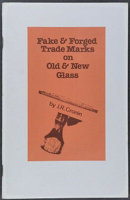 Fake Trademarks + Signatures on Antique Art Glass Pressed Glass Acid-Etched