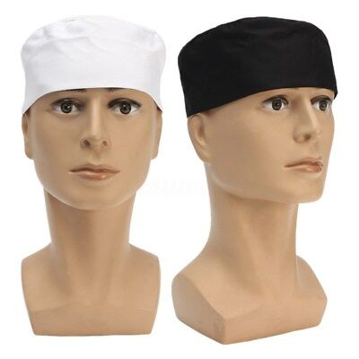 US Mesh Chefs Hat Top Skull Professional Catering Adjustable Breathable Cap