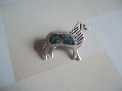 vintage Taxco Mexico sterling silver dog animal brooch