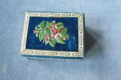 Pretty Antique English Card Needle Packet Box/holder - Concertina Pull Out