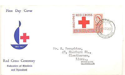 Rhodesia 1963 Red Cross issue first day cover
