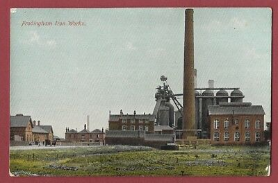 1909 Postcard - Frodingham Iron Works - Scunthorpe To Grantham - Year Of Strike