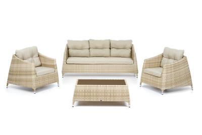 Set Ibiza Sofa 3 posti salottino wicker polyrattan alluminio divanetto 3 posti