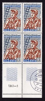 Algeria 1968 Emigration of Algerians to Europe - CTO block of 4 - (133)