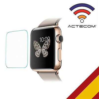 Actecom® Protector De Pantalla Para  Apple Watch 42 Mm Serie 3 Cristal Templado
