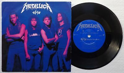 "METALLICA One (Radio Version)' 1989 UK promotional only 7""/45 rpm vinyl single"