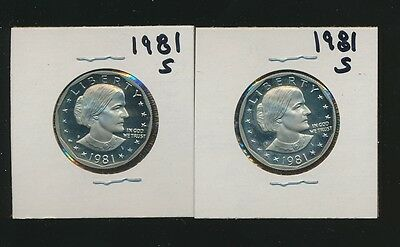 Susan B. Anthony Proof 1981-S Dollars - Gem Pair #a - Best Listed Price