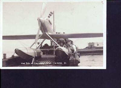 carte photo ancienne Hydravion SG at Galshot