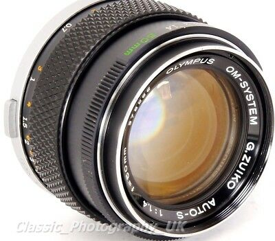 Olympus OM-System G. ZUIKO Auto-S 1:1.4 f=50mm FAST! PRIME Lens 1.4/50mm TESTED!