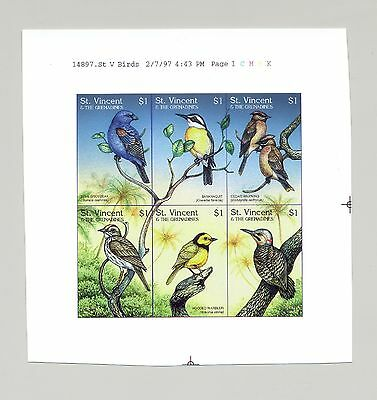 St Vincent #2419 Birds, Woodpecker 1v M/S of 6 Imperf Chromalin Proof