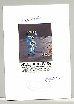 Lesotho #739 Apollo 11, Space 1v. imperf proof of s/s mounted in folder