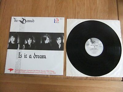 """The Damned, Is It A Dream, 5 Track 12"""" Vinyl Single, GD/VG."""