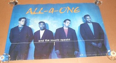 All-4-One And The Music Speaks Promo 1995 Original Poster RARE 30x20