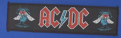 AC/DC Fly On The Wall vintage 1980s  'Superstrip' SEW-ON PATCH