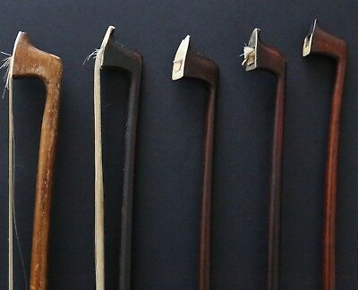5 VIOLIN BOW different size old vintage