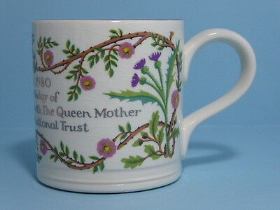 Boncath Pottery National Trust Queen Elizabeth Queen Mothers Mug 80th Birthday