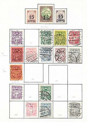 Latvia stamps 1927 Collection of 18 stamps ATTRACTIVE!