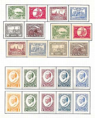Latvia stamps 1928 Collection of 22 stamps ATTRACTIVE!