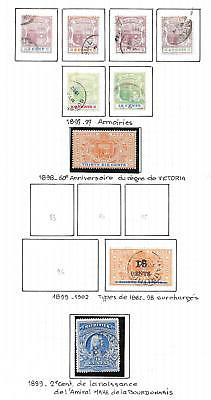 Mauritius stamps 1897 Collection of 9 CLASSIC stamps HIGH VALUE!
