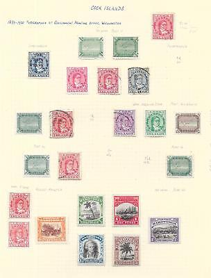 Cook Islands stamps 1899 Collection of 23 CLASSIC stamps HIGH VALUE!