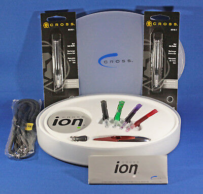 BOXED CROSS ION GEL PEN RED & CHROME with ATTACHMENT, LANYARD & SPARE REFILLS