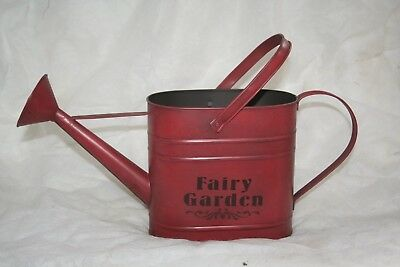 Wholesale stock job lot Decorative Tin Watering Can Labelled Fairy Garden x6