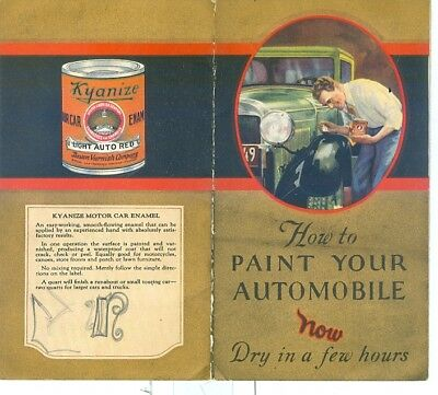1920s Paint Your Car with Kyanize Enamel