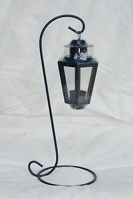 Wholesale stock job lot Garden T-Lite lantern C/W Black/Blue Stand Dark Blue x23
