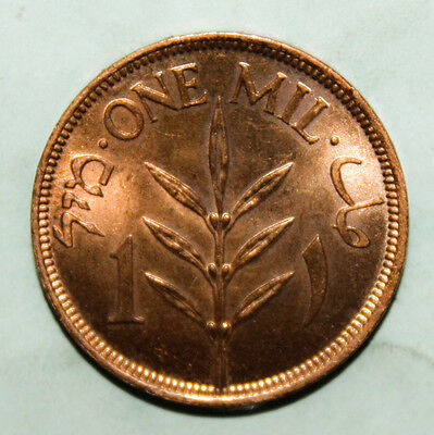 Palestine 1 Mil 1927 Brilliant Uncirculated Coin - Israel *** Beautiful