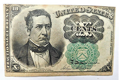 NO RESERVE United States Fractional Currency 10 Cents Note