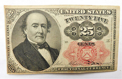 NO RESERVE United States Fractional Currency 25 Cents Note