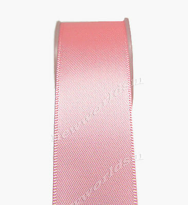 """4y 57mm 2 1/4"""" Pink Double Faced Premium Wide Heavy Satin Ribbon Eco FREE PP"""