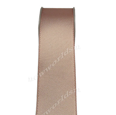 """4y 57mm 2 1/4"""" Tan Double Faced Premium Wide Heavy Satin Ribbon Eco FREE PP"""