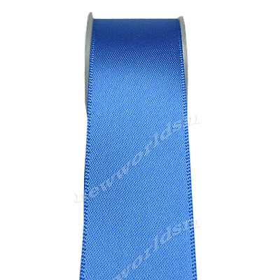 """4y 57mm 2 1/4"""" Royal Blue Double Faced Wide Heavy Satin Ribbon Eco FREE PP"""
