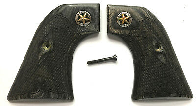Ruger New Model Vaquero Grips, Ruger Montado Grips, Silverblack Checkered