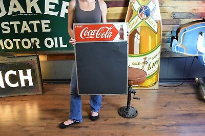 Coca Cola Coke Sign Chalk Board Diner Menu Board Gas Station Advertising tin