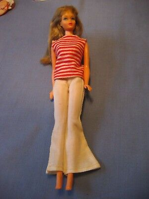 Vintage MIDGE with White Bell Bottoms Red & White Striped Shirt