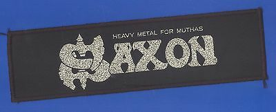 Saxon Heavy Metal For Muthas vintage 1980s  'Superstrip' SEW-ON PATCH