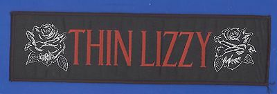 Thin Lizzy Black Rose vintage 1980s  'Superstrip' SEW-ON PATCH