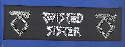 Twisted Sister logo vintage 1980s  'Superstrip' SEW-ON PATCH