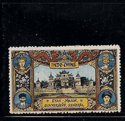France Delandre WWI  Cinderella Stamp Indochina Vietnam Indochine China RARE