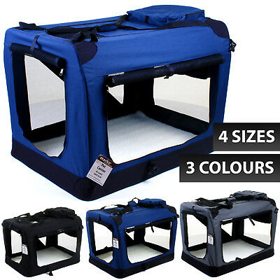 Cat Dog Pet Fabric Carrier Portable Puppy Folding Crate Cage Travel Foldable Bag