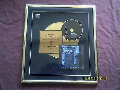 Elbow-Asleep In The Back Official Gold Presentation Award