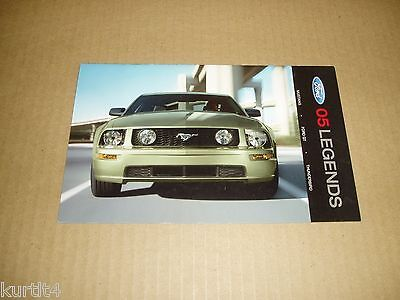 2005 Ford Mustang Thunderbird GT40 sales brochure auto show literature