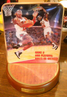 Michael Jordan Le Playoff Record 63 Point Sports Sounds Talking Plate Upper Deck