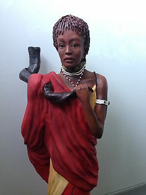 "Soul journeys Maasai Limited Edition ""jelani"" Figurine No: 100"