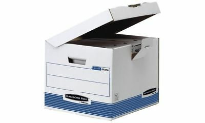 #10xFellowes BANKERS BOX SYSTEM Archiv-Klappdeckelbox Kubus