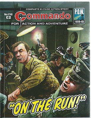 On The Run,commando For Action And Adventure,no.4745,war Comic,2014