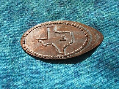 DALLAS TEXAS BACKSTAMPED Elongated Penny Pressed Smashed 25