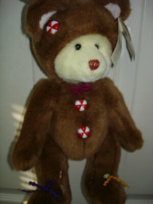 Russ Berrie Cookie Christmas Bear Plush 14ins Classic Bear BNWT